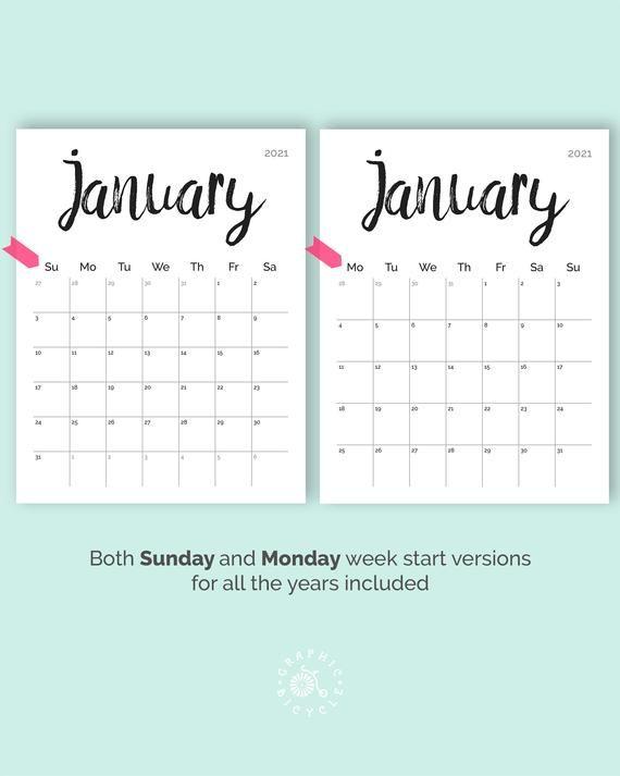 Printable Calendar 2021 2022 Desk Calendar Pdf Download Etsy In 2021 Printable Calendar Calendar Pages Calendar Printables