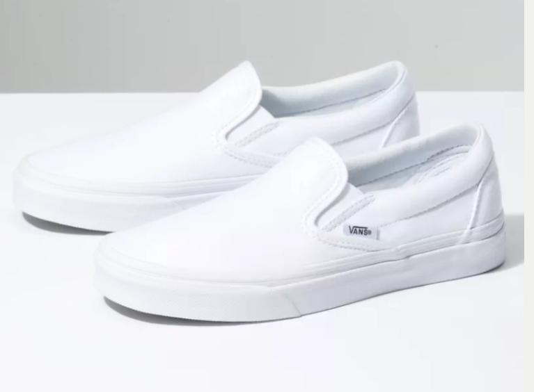 Slip On Shop Shoes At Vans White Slip On Shoes White Slip On Vans Slip On