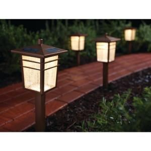 Hampton Bay Pathway Lights Extraordinary Hampton Bay Square Mission Outdoor Bronze Led Solar Pathway Light Decorating Design