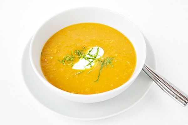 Thai Curry Carrot and Pumpkin Soup