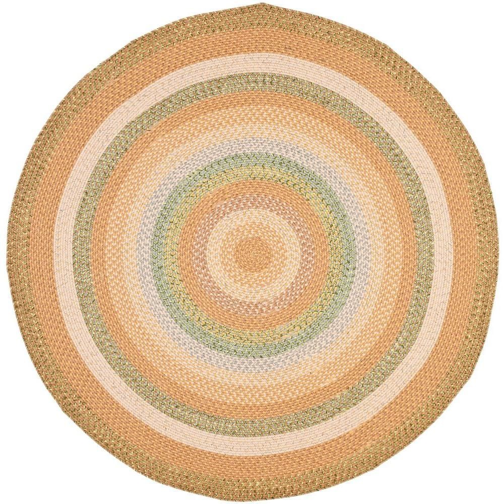 Safavieh Braided Tan Multi 6 Ft X 6 Ft Round Area Rug Products