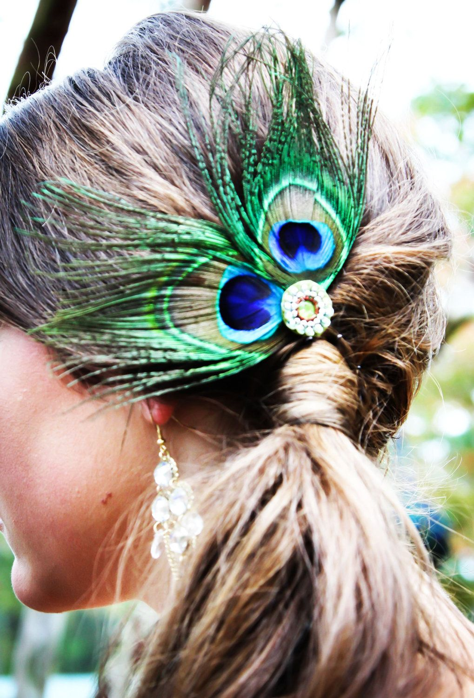 Peacock Wedding Bridesmaid Hair Fascinator. $15.00, via ...
