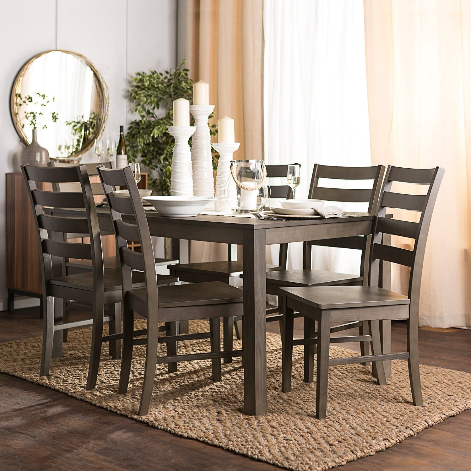 Homestead Aged Gray 7Piece Dining Set Dining room sets