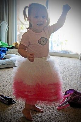 Sewing Tulle Skirt: to use for making flower girl dresses