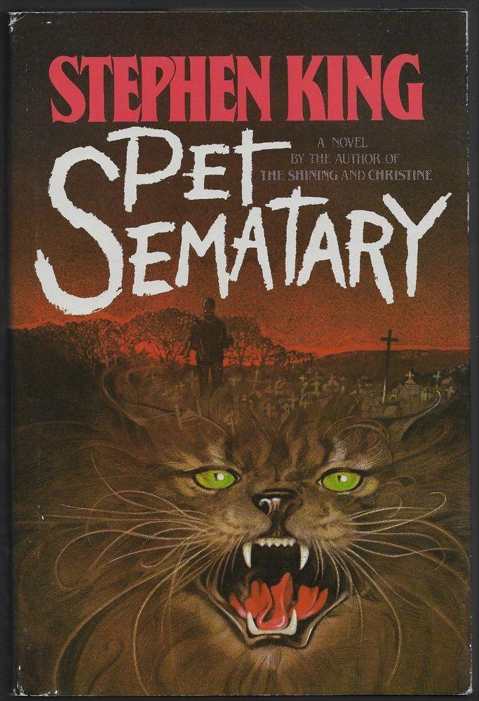 Pet Sematary HC dj Stephen King 1st Edition 1983 Doubleday (Bantam Dell)