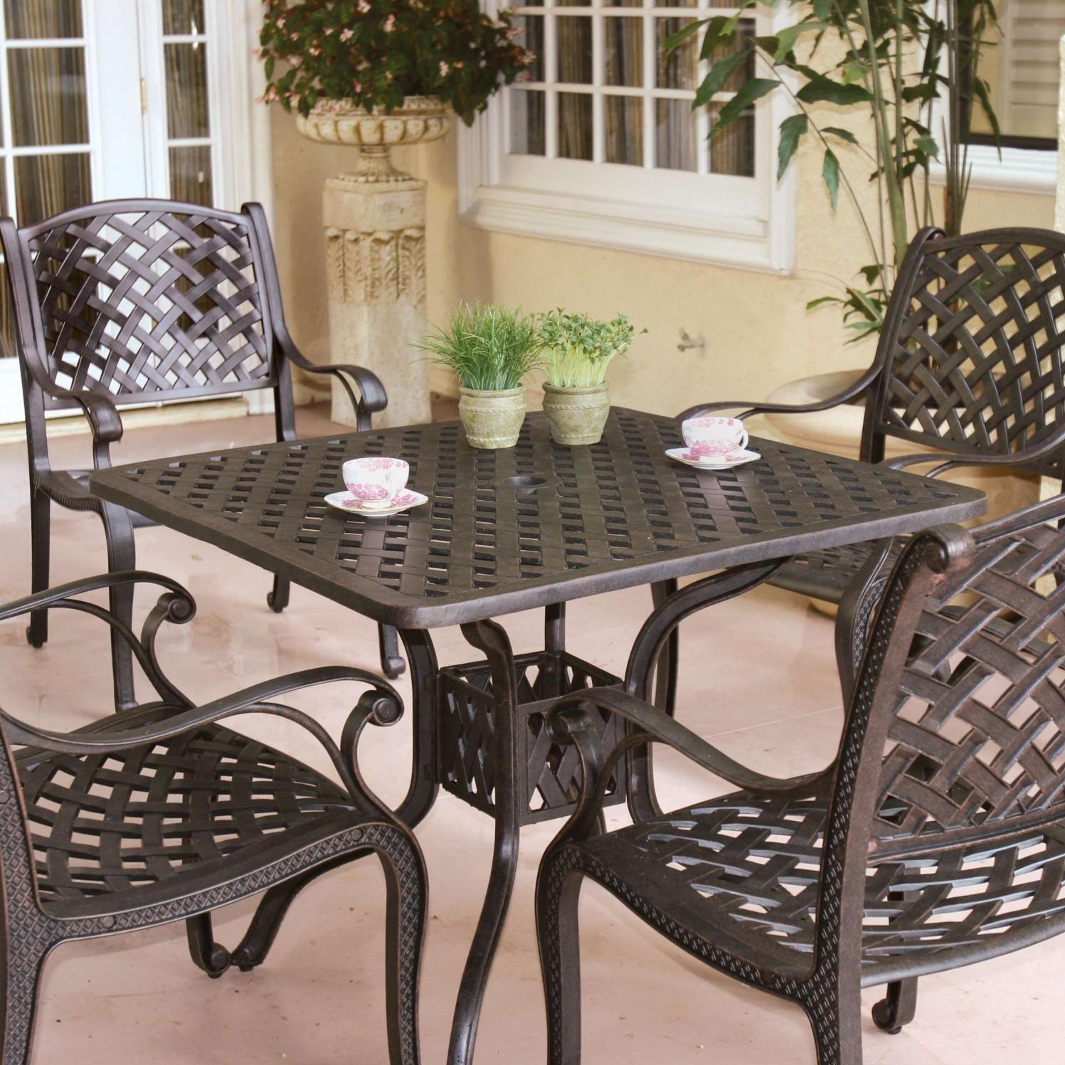 4 Person Patio Dining Set Terrasse Sitzgruppe Esstisch