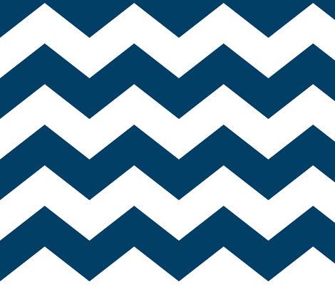 chevron lg navy blue and white fabric by misstiina on Spoonflower ...