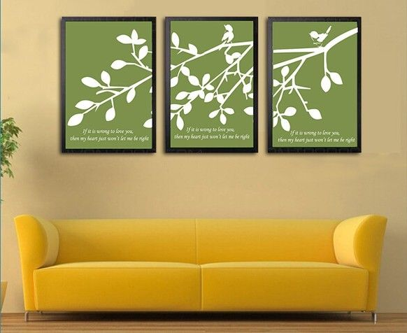 Diatom Mud wall painting, triptych. Not only a simple wall painting ...