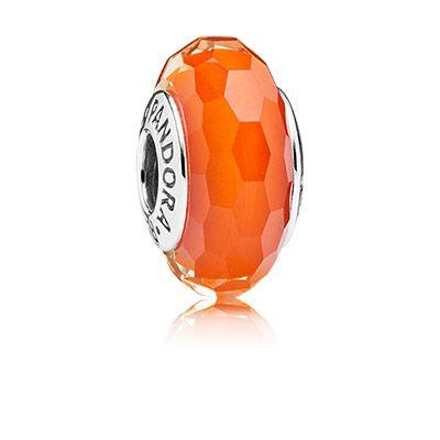 PANDORA   Fascinating orange   Pandora glass, Pandora murano ...