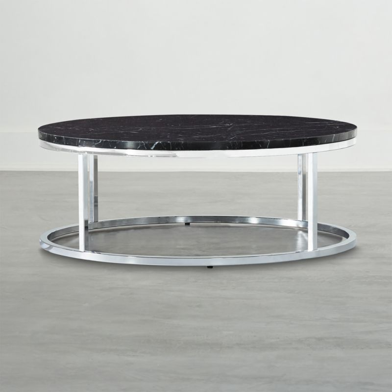 Smart Chrome Coffee Table With Black Marble Top Reviews In 2020
