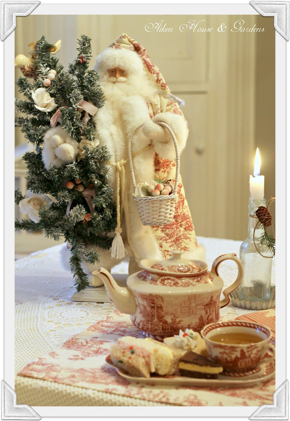 Vintage Santa Tea How I would LOVE to find one of these