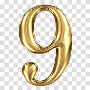 9 Foil Balloon Number Gold Three Dimensional Figure 9 Transparent Background Png Clipart Coroa Png
