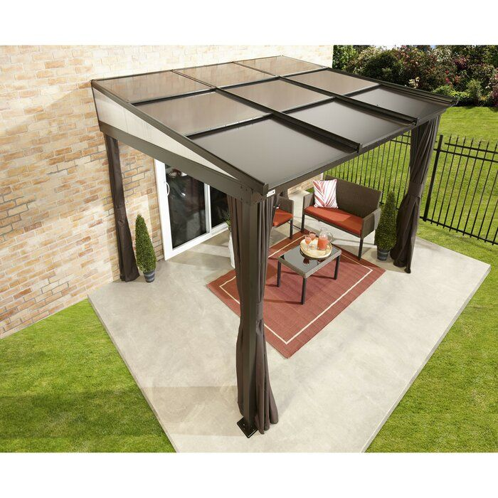Budapest 12 Ft W X 10 Ft D Aluminum Patio Gazebo In 2020 Patio Gazebo Gazebo Aluminum Patio