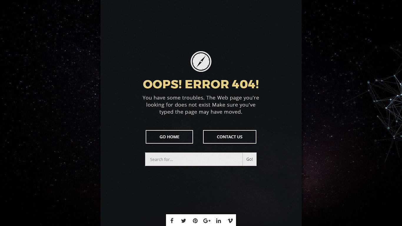 ShutDown - Super 404 page #recevied#framework#bootstrap