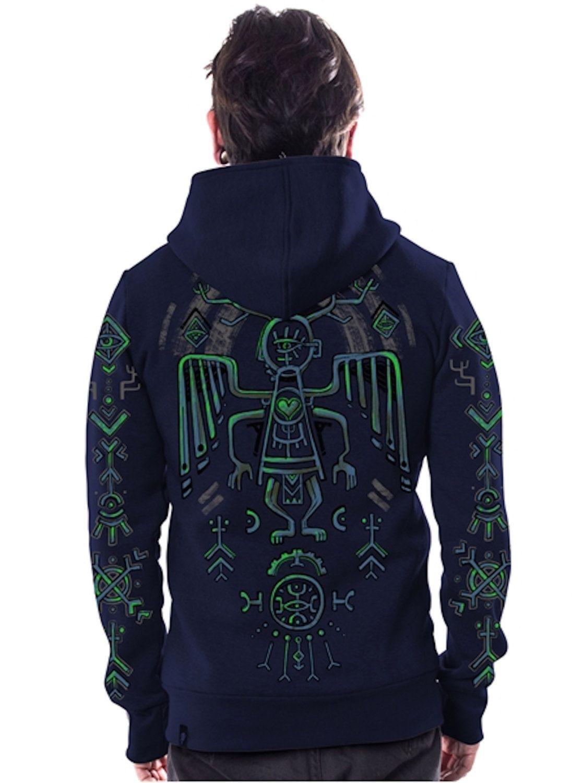 Psychedelic Hoodie,Burning man,Dmt,Psy Clothing,Zip Up Men's Hoodie,Hooded Jacket,Men Festival Hoodie,Christmas Gifts For Him.Men's Jacket.