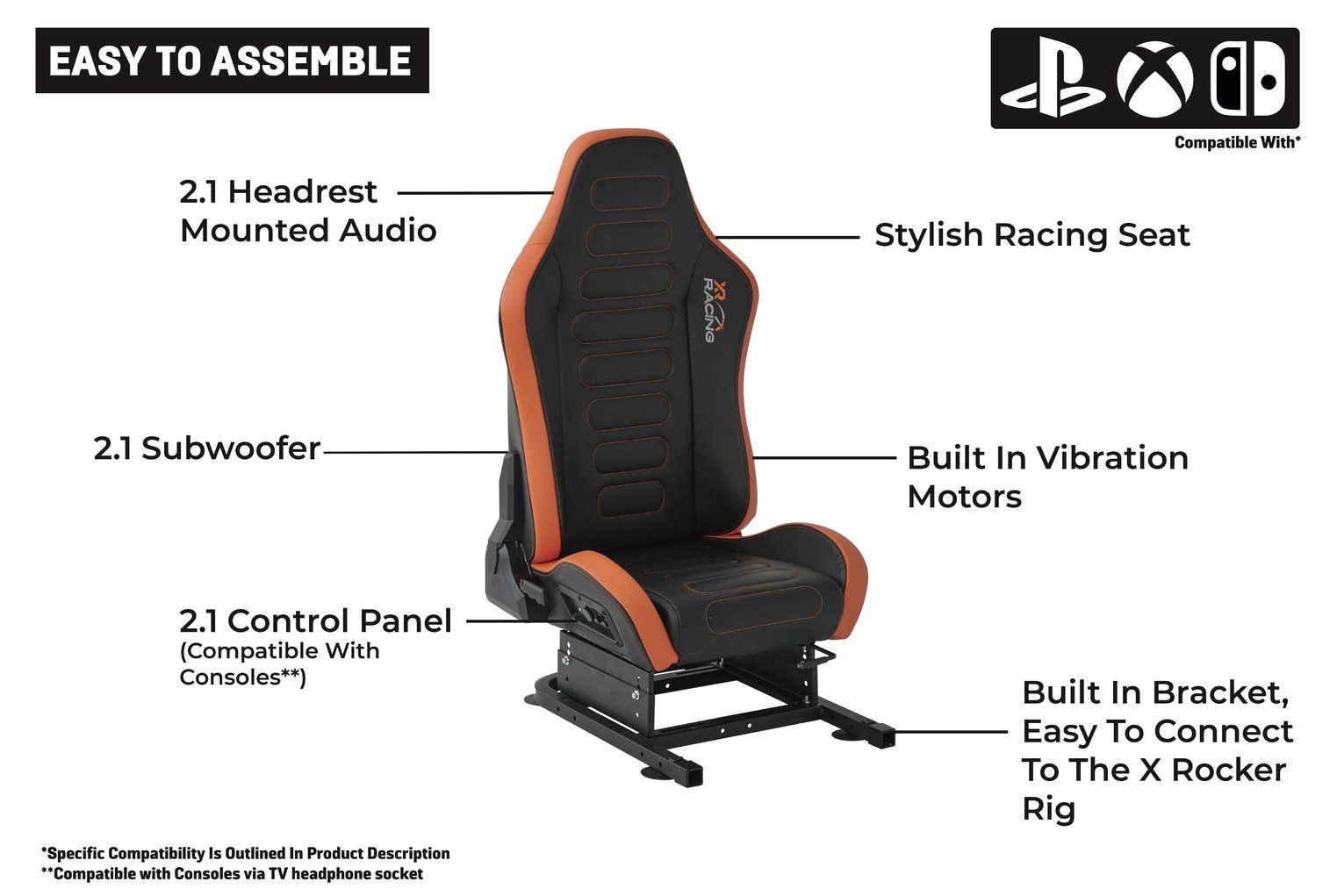 Buy XRocker XR Drift Racing 2in1 Gaming Chair & Bracket