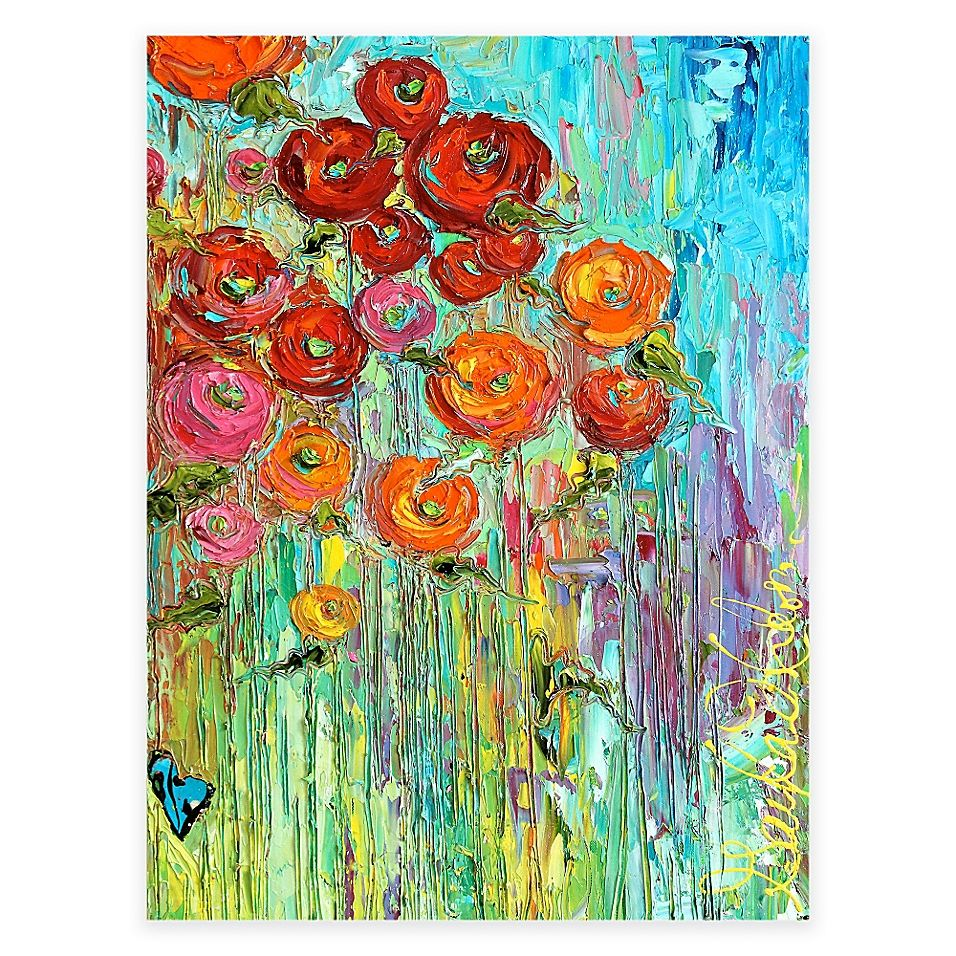 Poppies All Weather Outdoor Canvas Wall Art Outdoor Wall Art Canvas Wall Art Painting