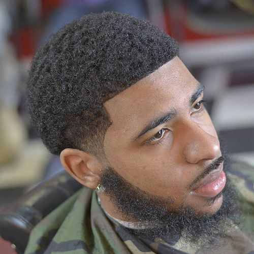 black mens hair style taper fade haircut with beard 11 taper fade with beard 2561 | 09014ea556b01ea69ad50b28a6a1e4b0