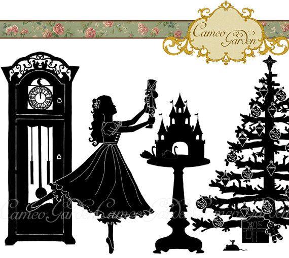 Nutcracker Christmas Tree Clipart.Silhouette The Nutcracker Clipart Christmas Clip Art For