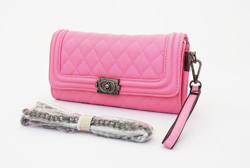 Karen Clutch Korean Bag, cute elegan. Ada tali pendek samping dan tali rantai…