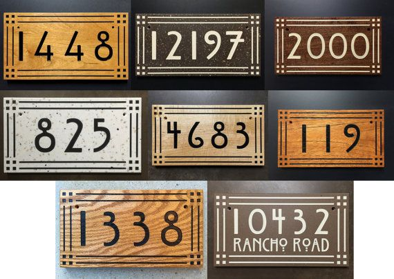 Craftsman X2f Mission Style House Number By Hcubedspecialties