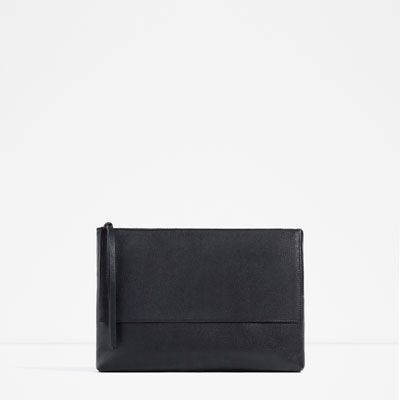 Leather Fold Over Clutch from Zara R899,00