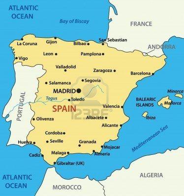 Map Of Spain Vector Free.Stock Vector In 2019 Travel Longing Spain Map Of Spain Spain
