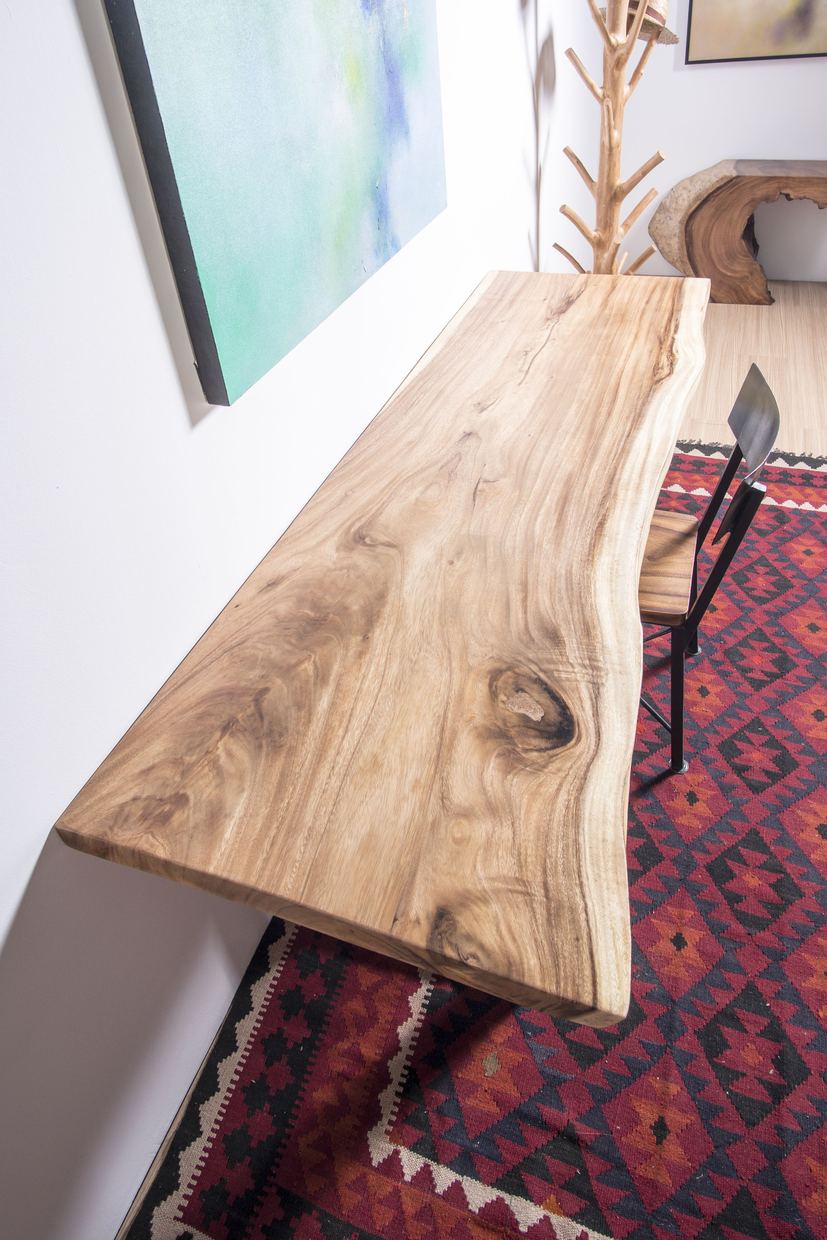 Live edge home office desk solid acacia wood slab table modern live edge table woodslabtable liveedge liveedgetable livingedgediningtable moderntable