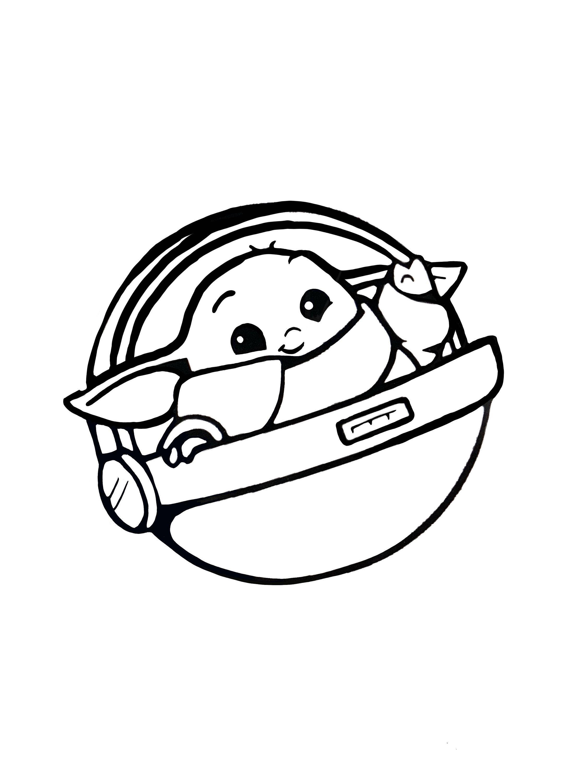 Baby yoda fan art psd download adorable baby yoda Star