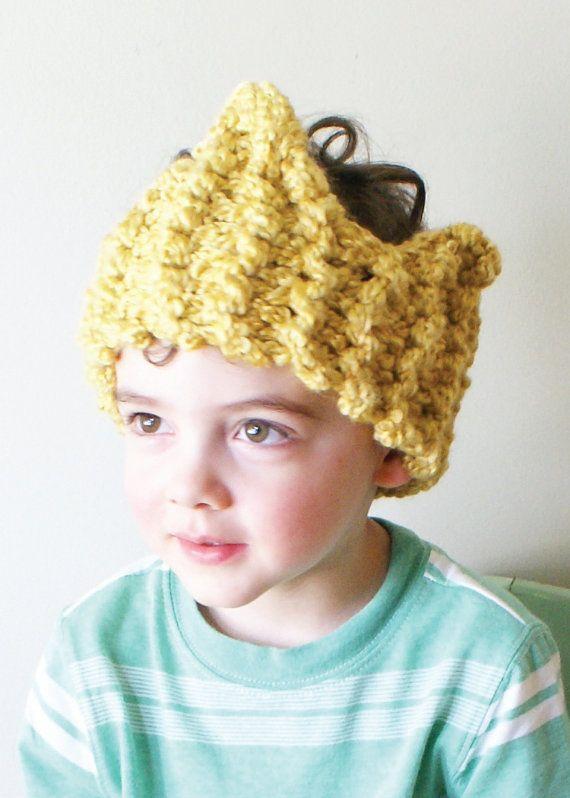 DIY Knitting PATTERN - Chunky Crown Ear Warmer / Headband in Toddler ...