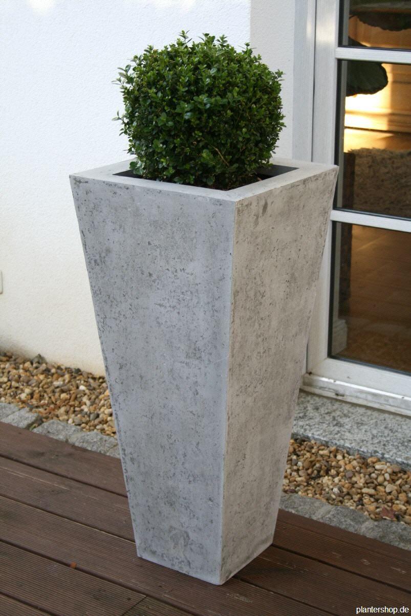 bildergebnis für beton blumenkübel | terasse garten | pinterest