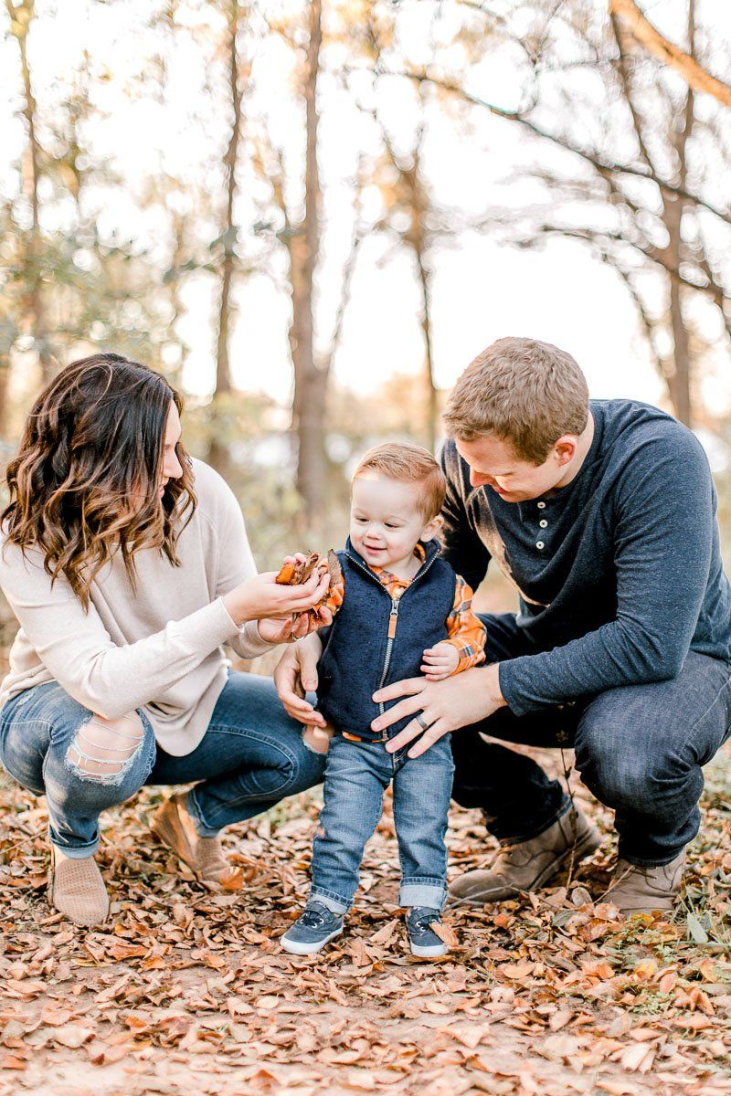 Fall Photos - Family of 3 Poses