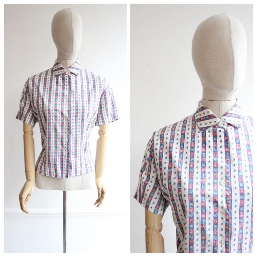 1950s Tops And Blouses Uk