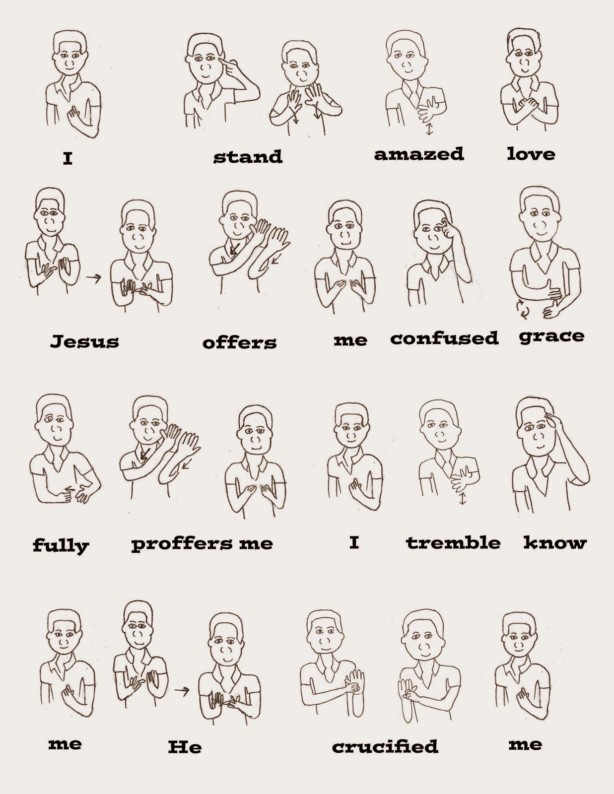 I Stand All Amazed With Asl