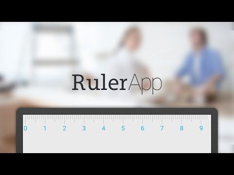 Ruler for your Android phone and tablet to measure the