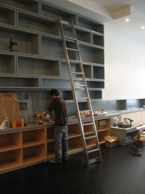 We Have The Space For This Now To Build It Someday Furniture Design Blog Library Ladder Library Wall