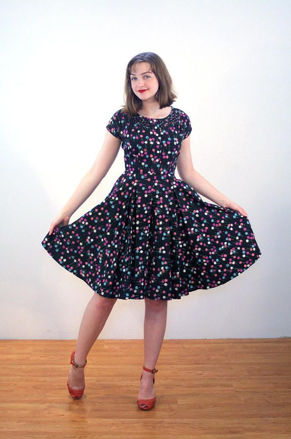 50s R And K Dress S Rockabilly Pattern Mid Century