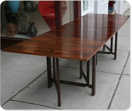Bruno Matheson   Maria Folding Table   Rosewood