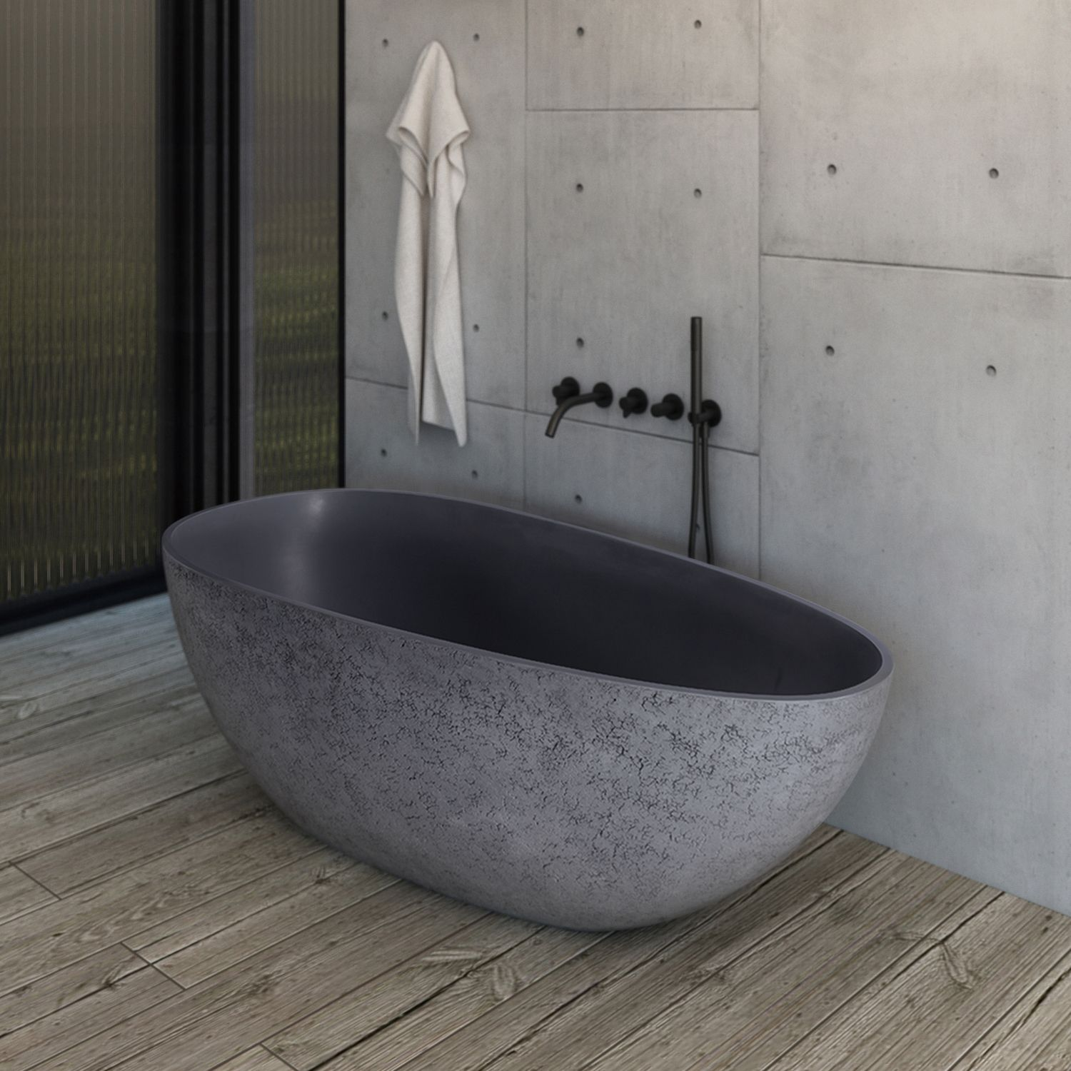 Pin By The Bubblegum Blonde On Tubs With Images Concrete Bathroom Design Concrete Bathroom