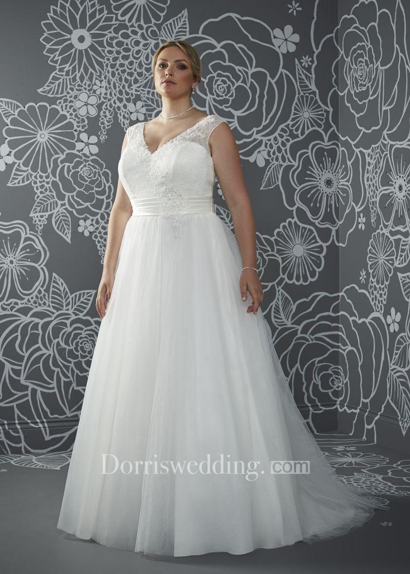 Dorris wedding dorris wedding aline floorlength vneck