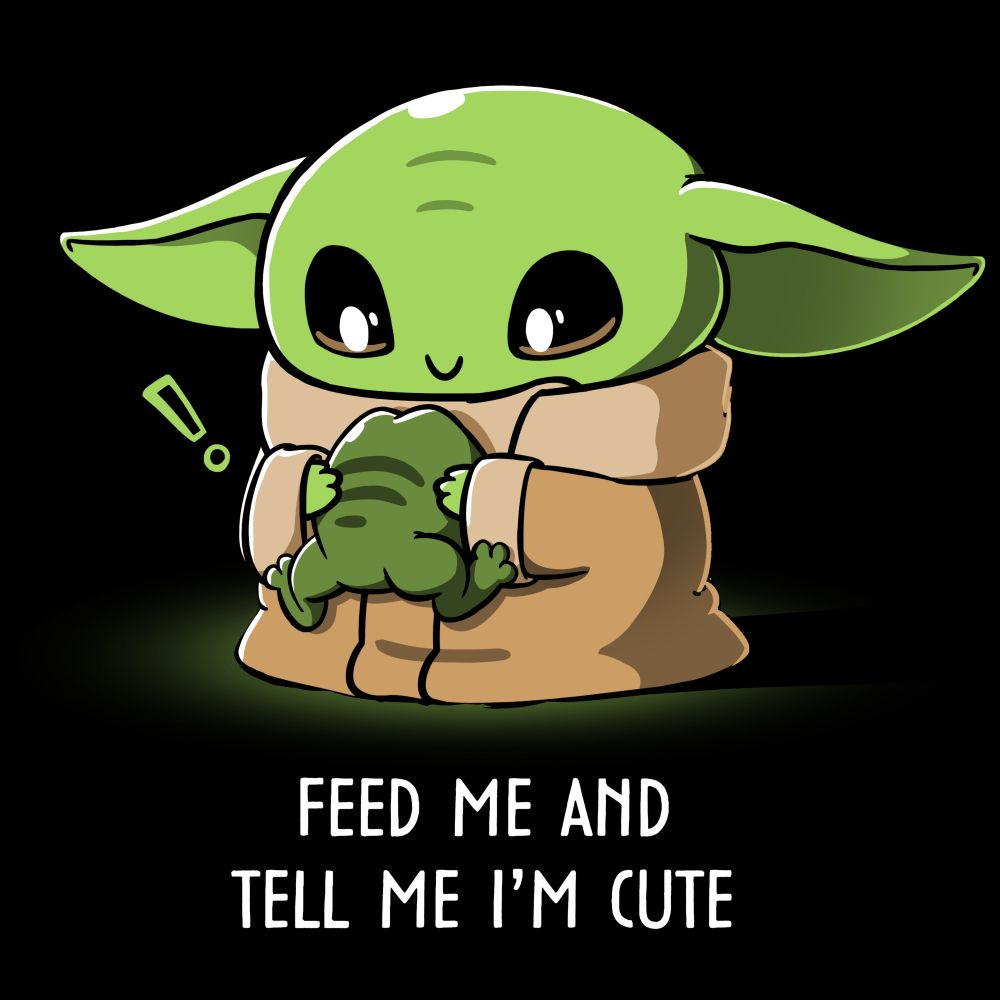 Feed Me And Tell Me I M Cute Official Star Wars Tee Baby Star Wars Characters Yoda Wallpaper Yoda Drawing