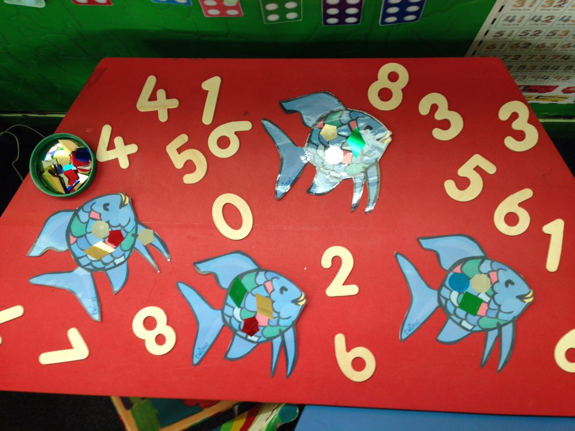 Rainbow Fish Counting Scales Activity Numeracy Early Years
