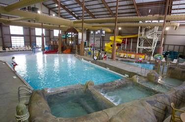 Indoor Waterpark See Hope Lake Lodge Indoor Waterpark Water