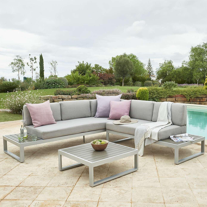 Ibiza Grey Corner Sofa Set  Dunelm  Corner sofa set, Garden sofa