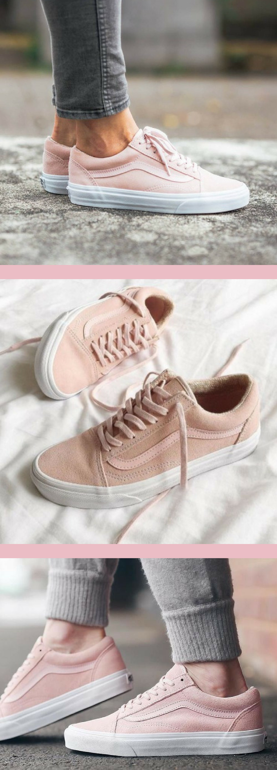 76e822609cb I just love these light pink vans! So cute for casual wear when out and  about. Super comfy too! #pink #vans #shoelove #ad