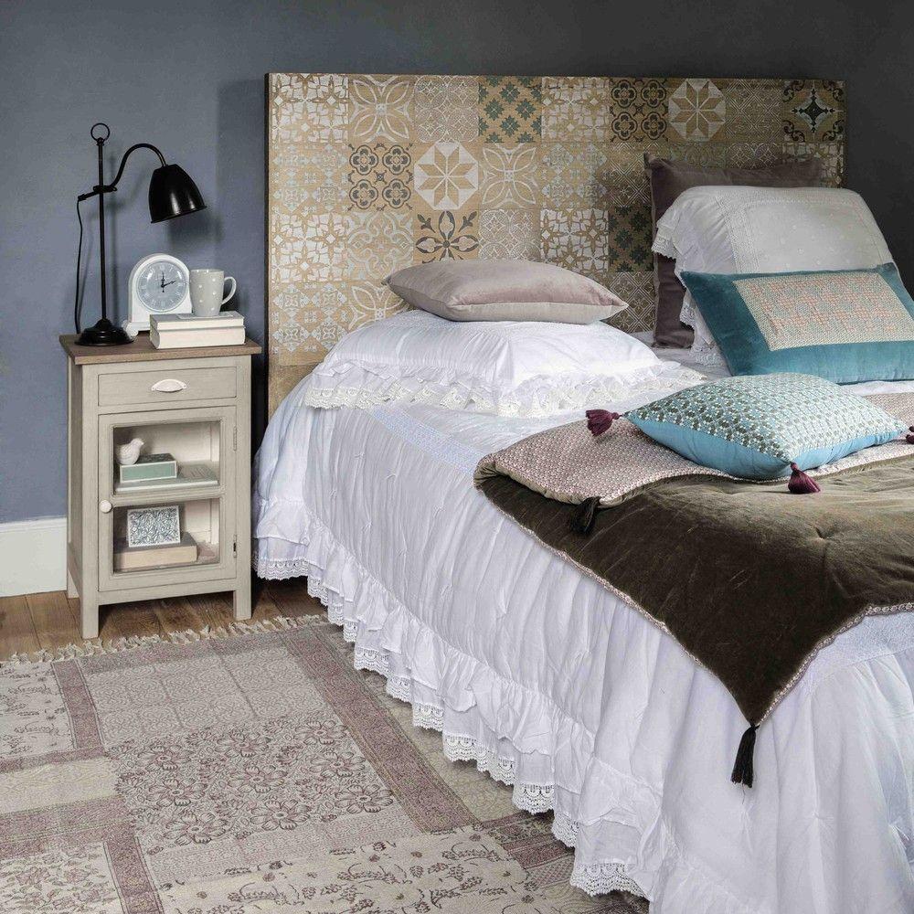 T te de lit 160 en manguier pinterest lit 160 tete de et vieux volets - Tete de lit blanche 160 ...