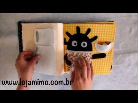 Livro de tecido Interativo - Quiet Book - YouTube