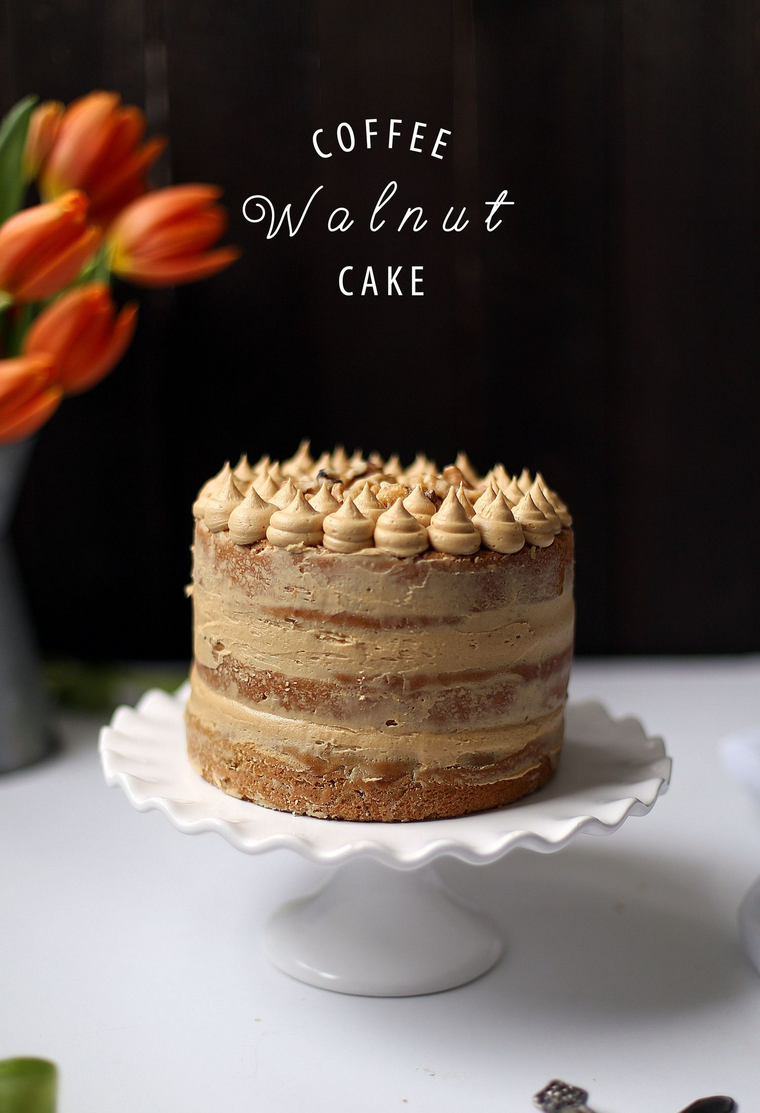 Cool Coffee Walnut Cake Coffee And Walnut Cake Coffee Cake Recipes Funny Birthday Cards Online Elaedamsfinfo