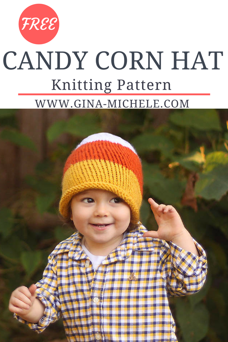 FREE knitting pattern for this Candy Corn Hat! #knitting ...