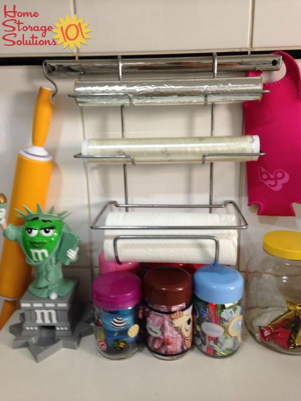 Incroyable Use A Wall Mounted Holder For Your Plastic Wrap And Aluminum Foil {featured  On Home Storage Solutions 101}